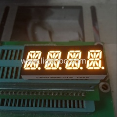 Custom Design super bright amber 0.39inch( 10mm) four digit 16 segment led display for instrument panel