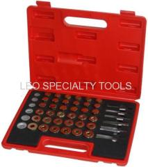 114pc Oil Pan Drain carterplug Key Thread Repair Tool Kit Set Drain Plug M13 M15 M17 M20 M22