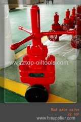 Well control mud gate valve
