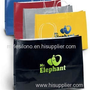 Aubrie Gloss Shopping Bags Foil Hot Stamp