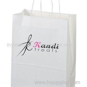 Printed Jenny White Paper Shopping Bags