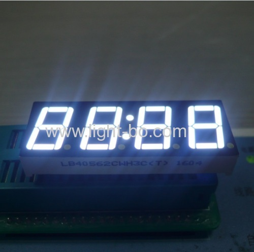 Ultra white 0.56 inch 4 digit 7 segment led disdplay for clock indicator