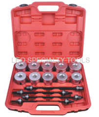 24pcs Master Bearing Druk en Trek Sleeve Kit 34mm - 72mm Bear Gear Removal Tool Set