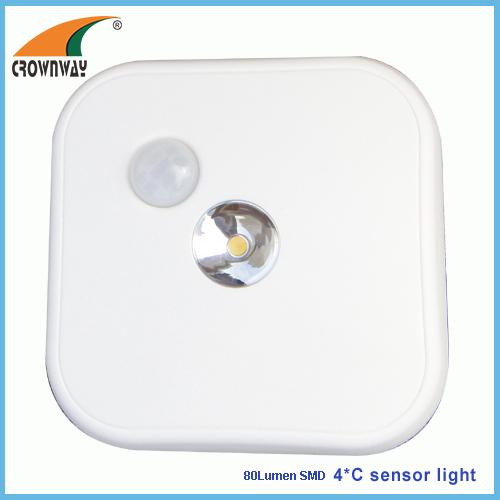 SMD sensor light 80Lumen PIR motion sensor lamp cabinet lamp indoor light 4*C battery motion sensor mode