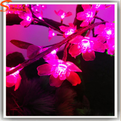 LED red-blue-purple color 3-changing artificial cherry blossom tree with LED lights silk cherry