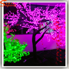LED artificial cherry blossom tree with LED lights