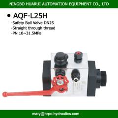 AQF accumulator safety ball valve
