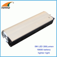 5W LED flashlights 300Lumen USB power bank mobile cigarette lighter 18650 Lithium hand torch