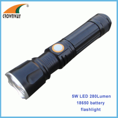 5W LED flashlight emergency flashlight body directly charging 100-240V outdoor working light zoomble CE RoHS arpproved