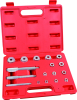 "17pcs Bushing Seal Driver Tool Kit 3/8-1-3/8"" Adaptor Wheel Bearing Removal"