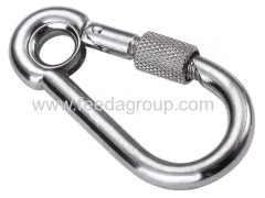 AISI304&AISI316 stainless steel snap hook with eyelet ang screw
