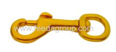 Solid Brass Harness Swivel Eye Bolt Snap Hook