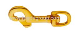 Solid Brass Harness Swivel Snap Hook