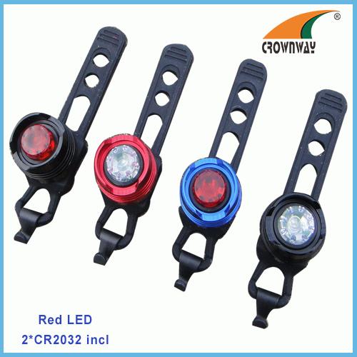 Red LED bike lights rear flashing bicycle lamp warning light silicon riding lamp waterproof bike lamp helmet light