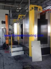 powder spray booth with mono cyclone