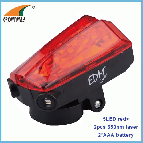Red LED bike lights rear flashing bicycle lamp laser pointer warning light nigh light riding lamp LED bike lamp