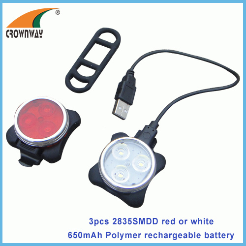 SMD Bicycle tail light rear bike lamp USB Power bank Polymer lithium rechargeable wrist LED lamp watch lamp