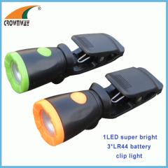 LED Clip lamp work light mini emergency lamp cap light repairing lantern 3LR44 battery CE RoHS approval outdoor lamp