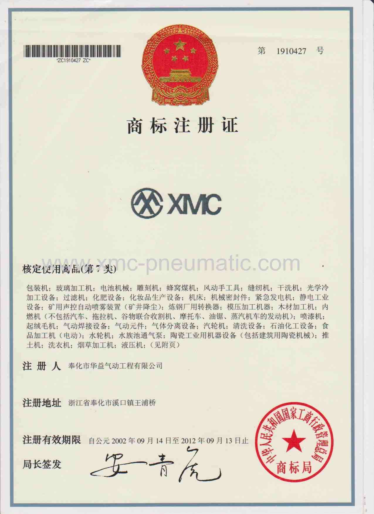 BRAND REGISTERED CERTIFICATION