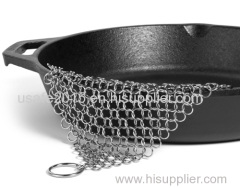 304L Food grade lead-free stainless steel chainmail kitchen cleaning scrubber