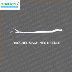 Raschel knitting machine needles