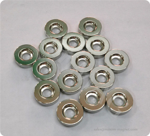Neodymium disc magnets with countersunk hole
