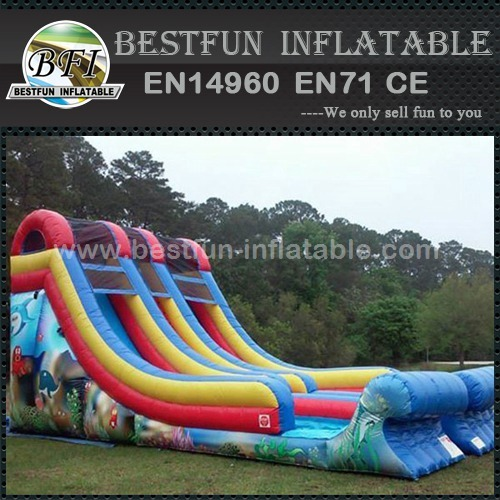 Giant commerical inflatable dual lanes slide
