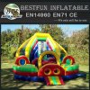 Cliff hanger adult inflatable rainbow slide with climbing
