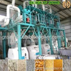 Kenya 50T per 24h maize milling machine