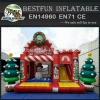 Christmas Inflatable Jumping Bouncy Castle for Kids