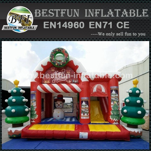 Christmas tree bouncing air castle inflatable bouncer