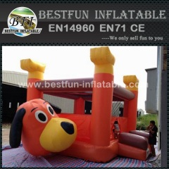 Cartoon Dog Inflatable Mini Bouncing House for Backyard