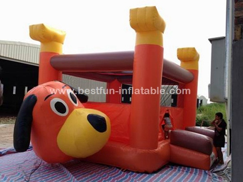 Commercial Dog Moon Walking Jumping Bouncy Castle for Kids