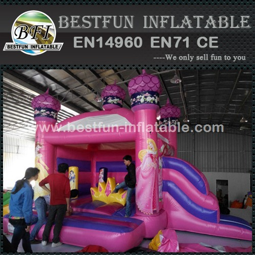 Popular amusing inflatable princess castle combo