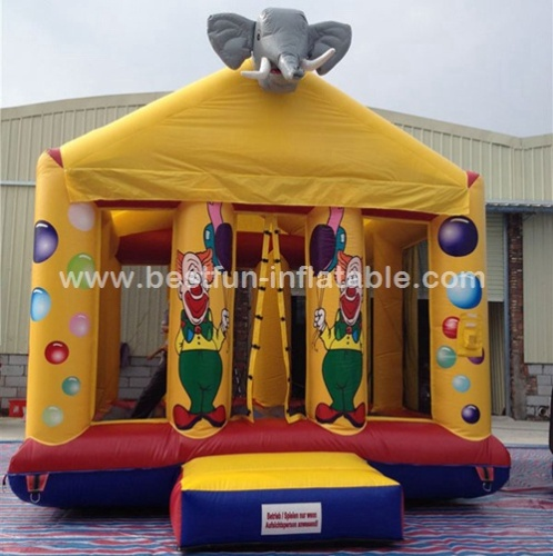 Funny giant Inflatables Elephant Jumping Bouncer Castle for party