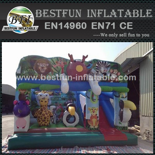Attractive Inflatable Jungle bouncy combo
