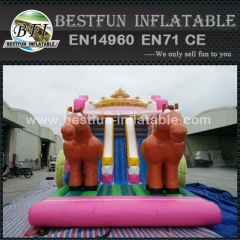 Princess inflatable bouncy bouncer castle combo