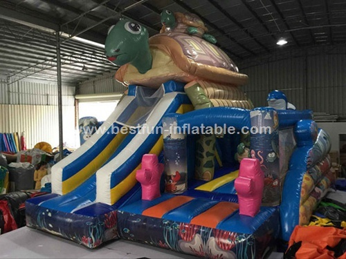Inflatable Bouncer Turtle Jumping Bouncy Castle for Sale