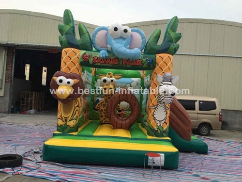 Inflatable Forest Theme Bouncy Castle safari jumping castle