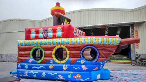 Inflatable Pirate Boat bounce house ship bouncer for Kids