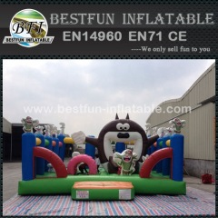 Cartoon characters inflatable amusement park
