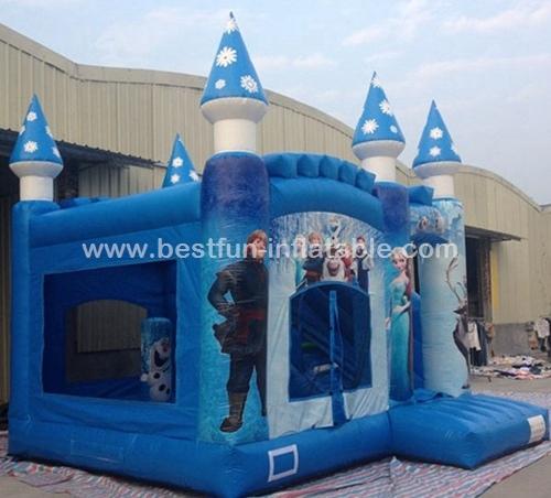Inflatable Toy Frozen Castle Elsa Princess bounce castle combo