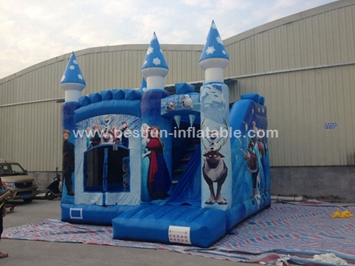 Inflatable Toy Frozen Castle Elsa Princess bounce castle combo