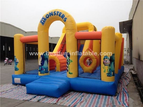 Monster Theme Kids Giant Inflatable Bounce House kis inflatable playground