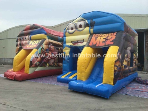 New Cheap Minions Inflatable Jumping Bouncy Castle inflatable bouncer