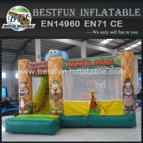 Inflatable jungle Safari park bouncer house