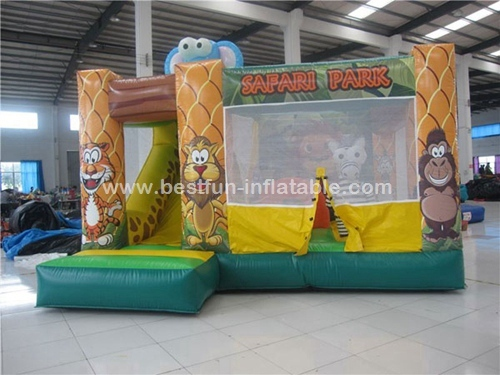 New Design safari park Inflatable Bouncer for Kids bounce house