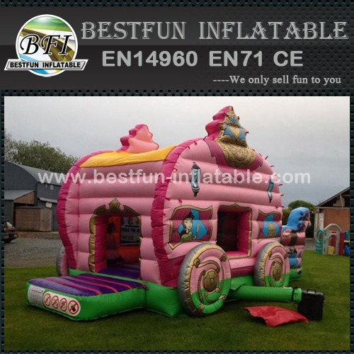 Inflatable Princess Carriage Combi with Slide