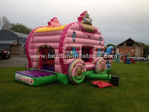 Princess carriage bouncy castle inflatables for sale