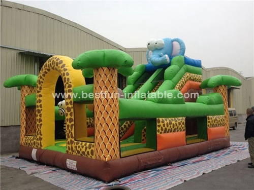 Safari Mobile Kids Inflatable Amusement Park
